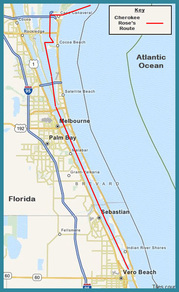 chart Cape Canaveral to Vero Beach