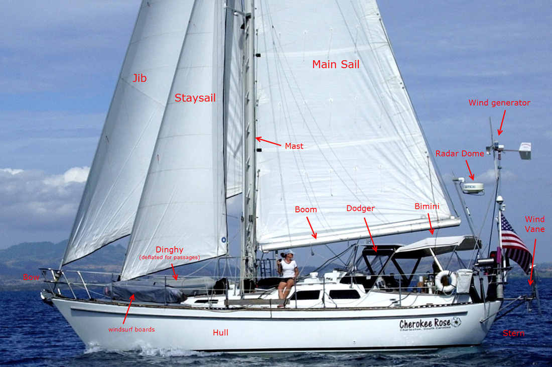 Details of Cherokee Rose, the sailboat that safely took Paul and ...